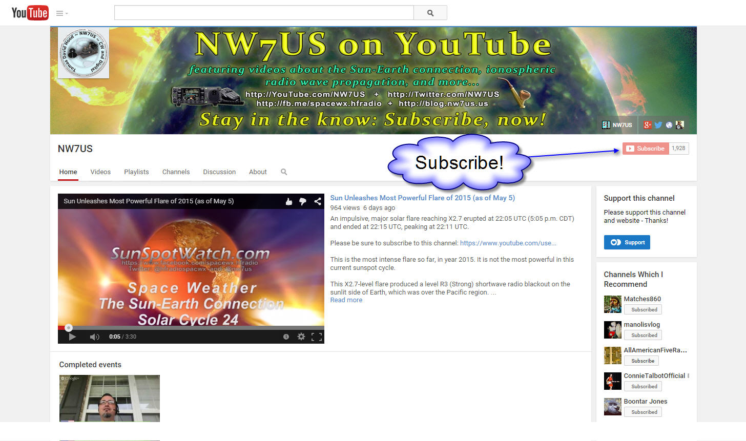 Please subscribe to NW7US on YouTube