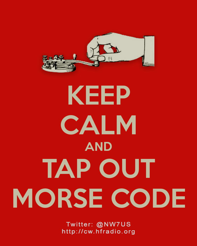 Keep calm and tap out Morse code