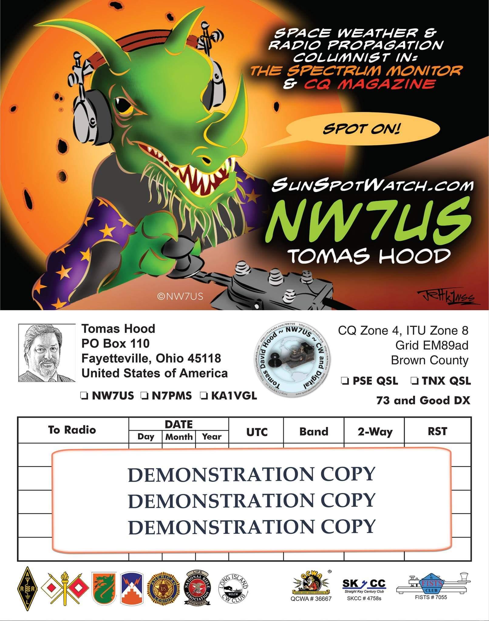 NW7US_OHIO_QSL_Sample
