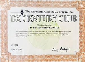 NW7US, Tomas - DXCC