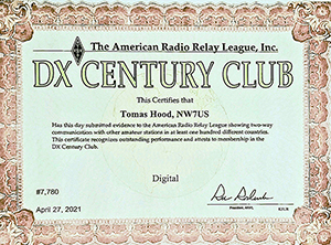 NW7US, Tomas - DXCC - Data