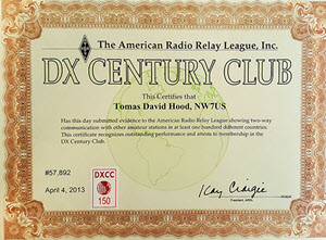 NW7US DXCC Mixed 150