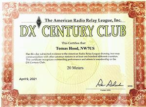 NW7US, Tomas - DXCC - 20 Meters