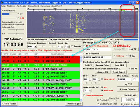 JT65A QSO between NW7US and DU1GM on 2011-01-29 at 1702 UTC